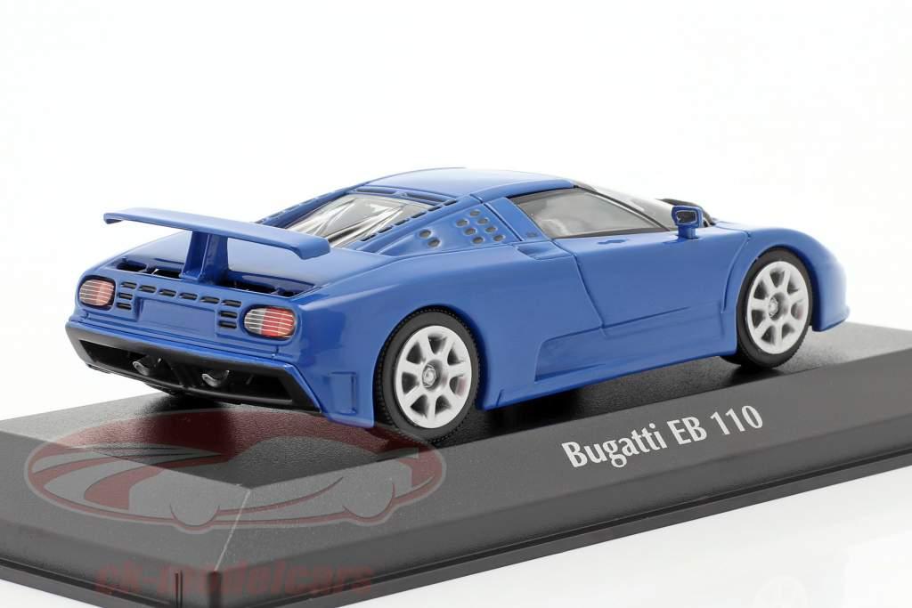 Bugatti EB 110 bouwjaar 1994 blauw 1:43 Minichamps