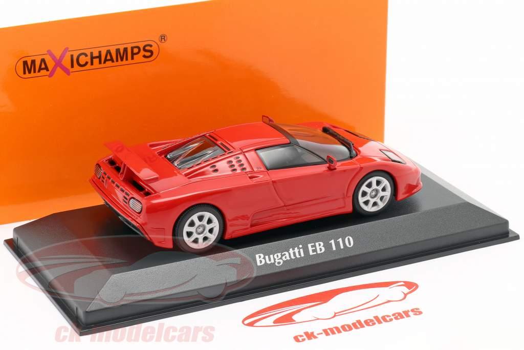 Bugatti EB 110 Byggeår 1994 rød 1:43 Minichamps