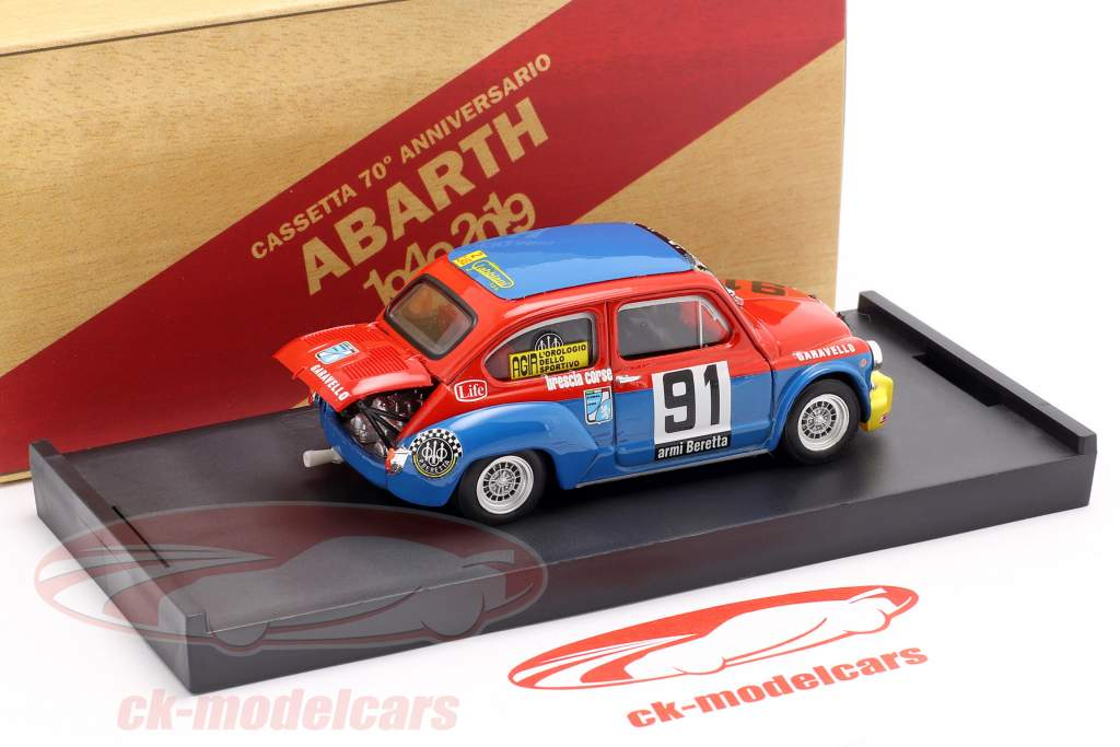 Fiat Abarth 1000 #91 Coppa Carri Monza 1973 Arnighini 1:43 Brumm