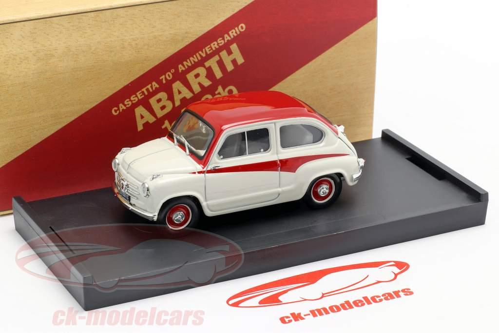 Fiat 600 Derivazione Abarth 750 Année de construction 1956 blanc / rouge 1:43 Brumm