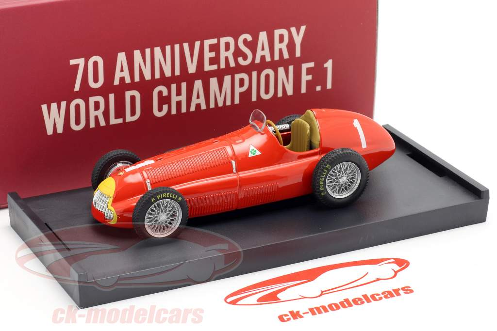 Juan Manuel Fangio Alfa Romeo 158 #1 Storbritanien GP formel 1 1950 1:43 Brumm
