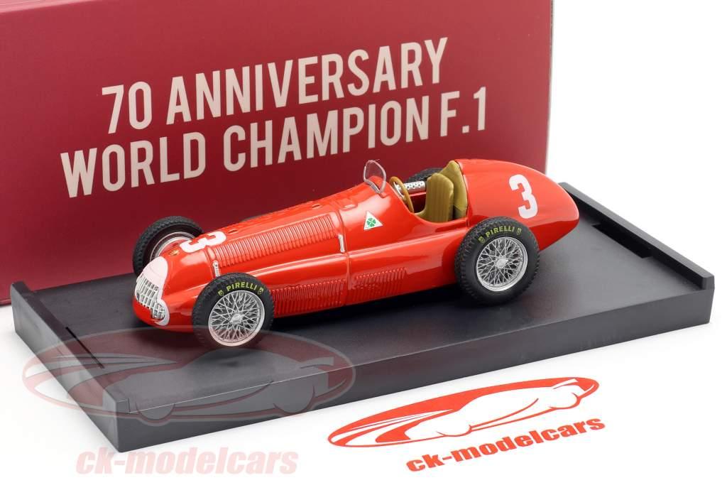 Luigi Fagioli Alfa Romeo 158 #3 2e Groot Brittanië GP formule 1 1950 1:43 Brumm