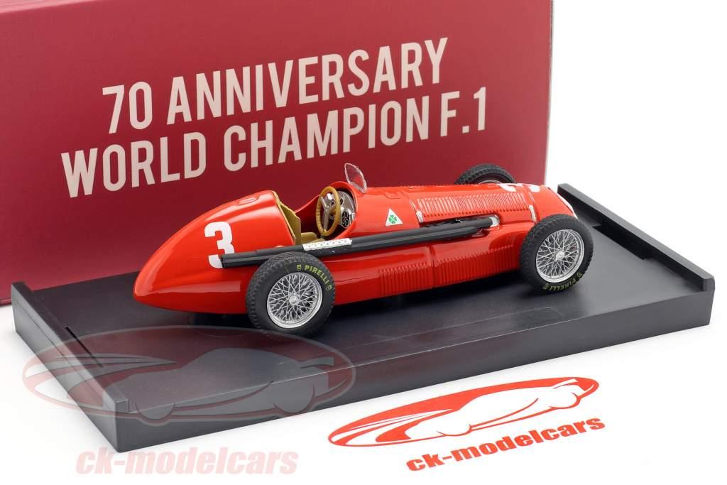 Luigi Fagioli Alfa Romeo 158 #3 2do Gran Bretaña GP fórmula 1 1950 1:43 Brumm