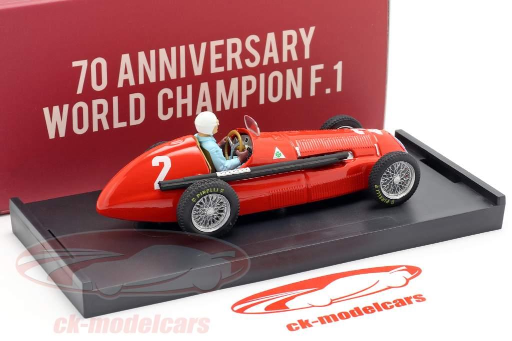 G. Farina Alfa Romeo 158 #2 Weltmeister Großbritannien GP F1 1950 1:43 Brumm