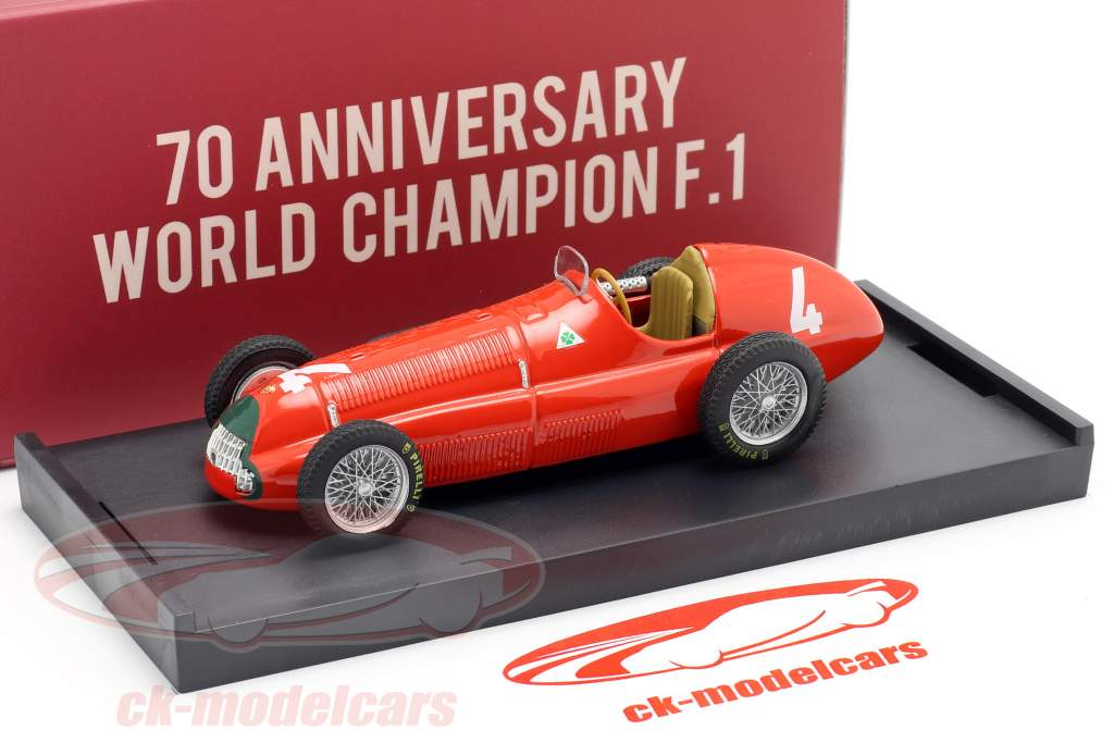 Reg Parnell Alfa Romeo 158 #4 Gran Bretaña GP fórmula 1 1950 1:43 Brumm