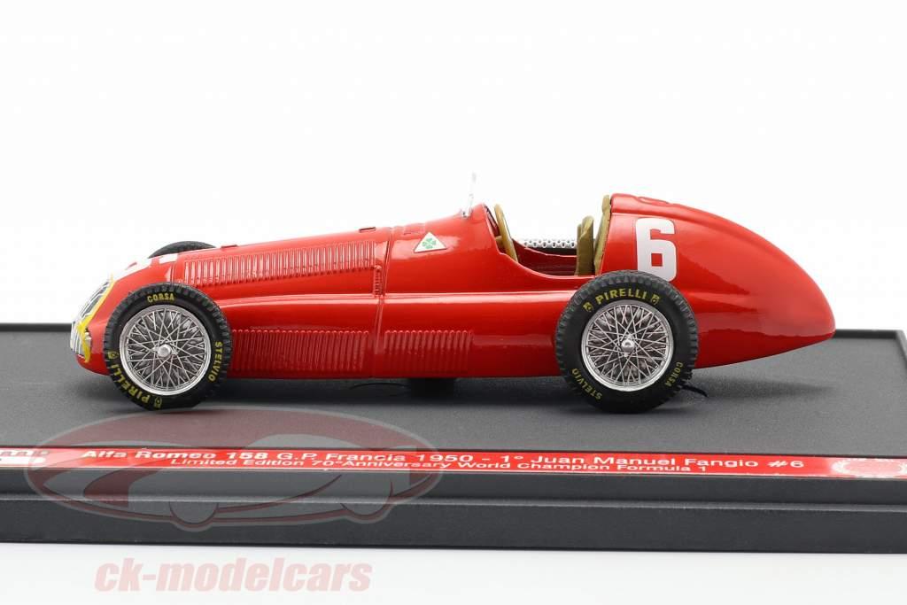Juan Manuel Fangio Alfa Romeo 158 #6 Vincitore Francia GP F1 1950 1:43 Brumm