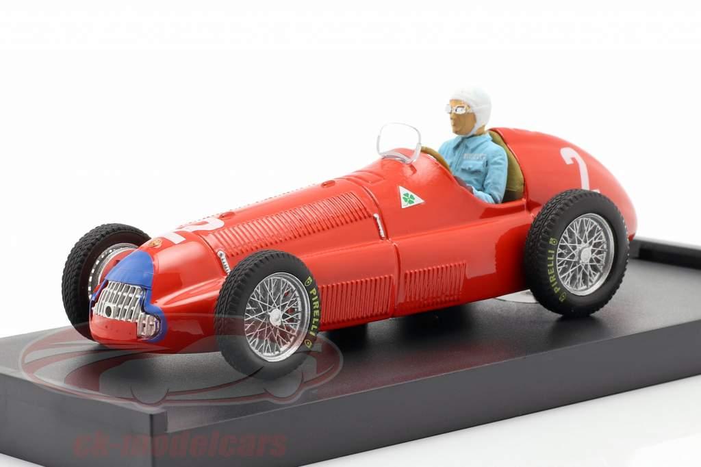 G. Farina Alfa Romeo 158 #2 Campeón mundial Gran Bretaña GP F1 1950 1:43 Brumm