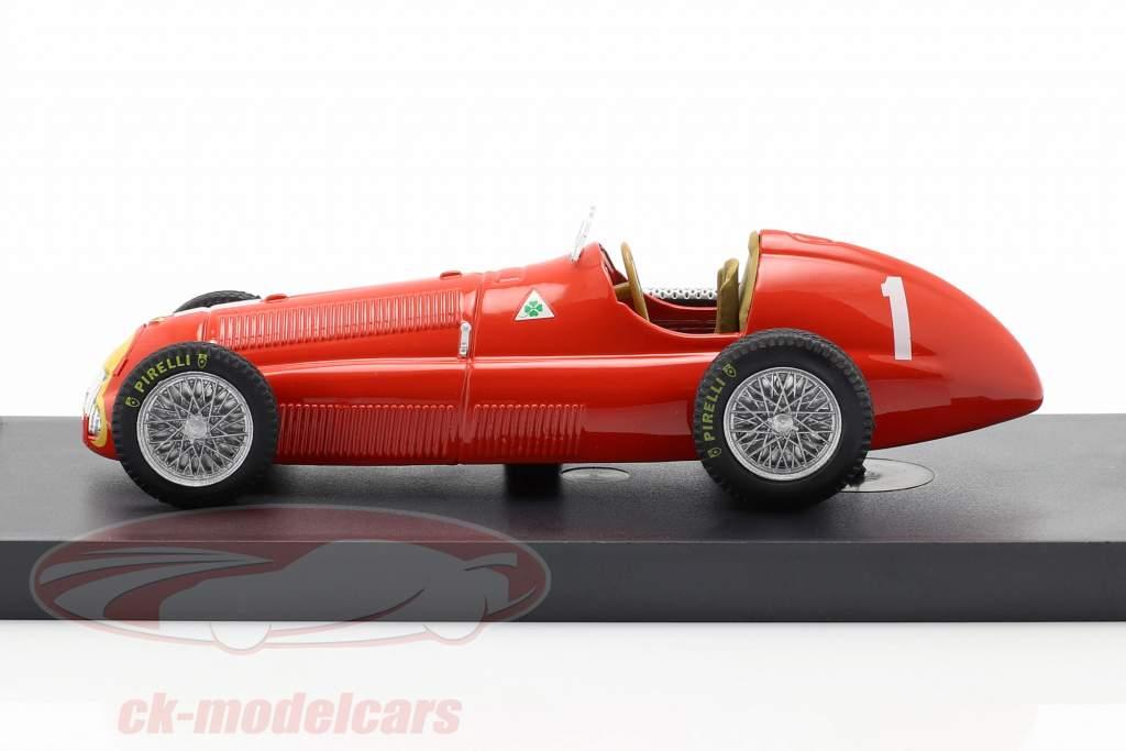 Juan Manuel Fangio Alfa Romeo 158 #1 Grande Bretagne GP formule 1 1950 1:43 Brumm