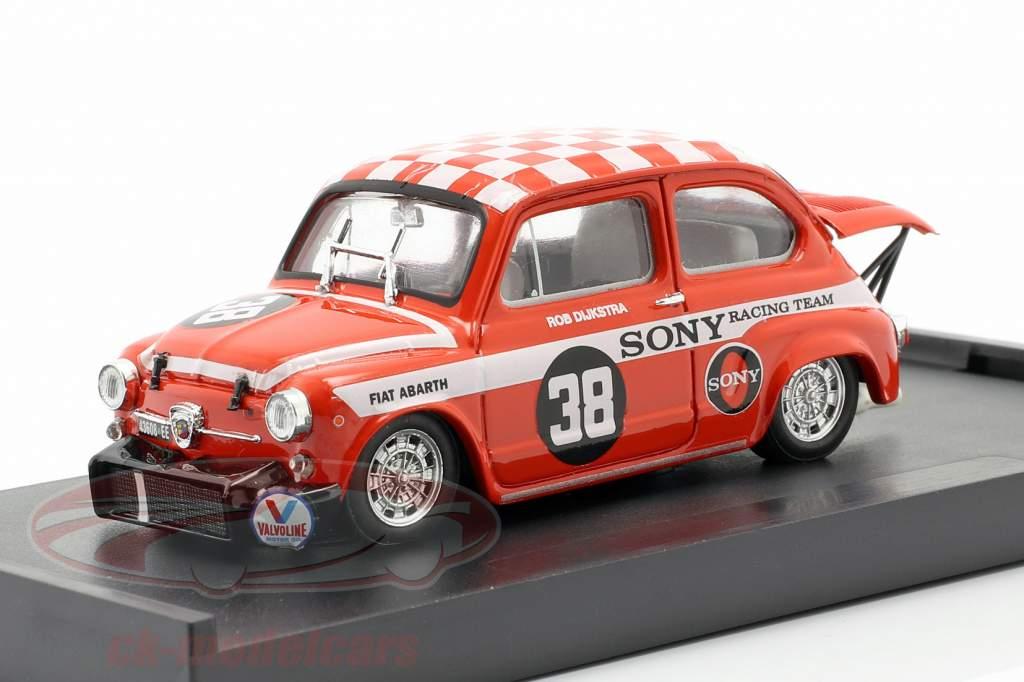 Fiat Abarth 1000 #38 Winnaar Zandvoort Trophy 1969 Dijkstra 1:43 Brumm