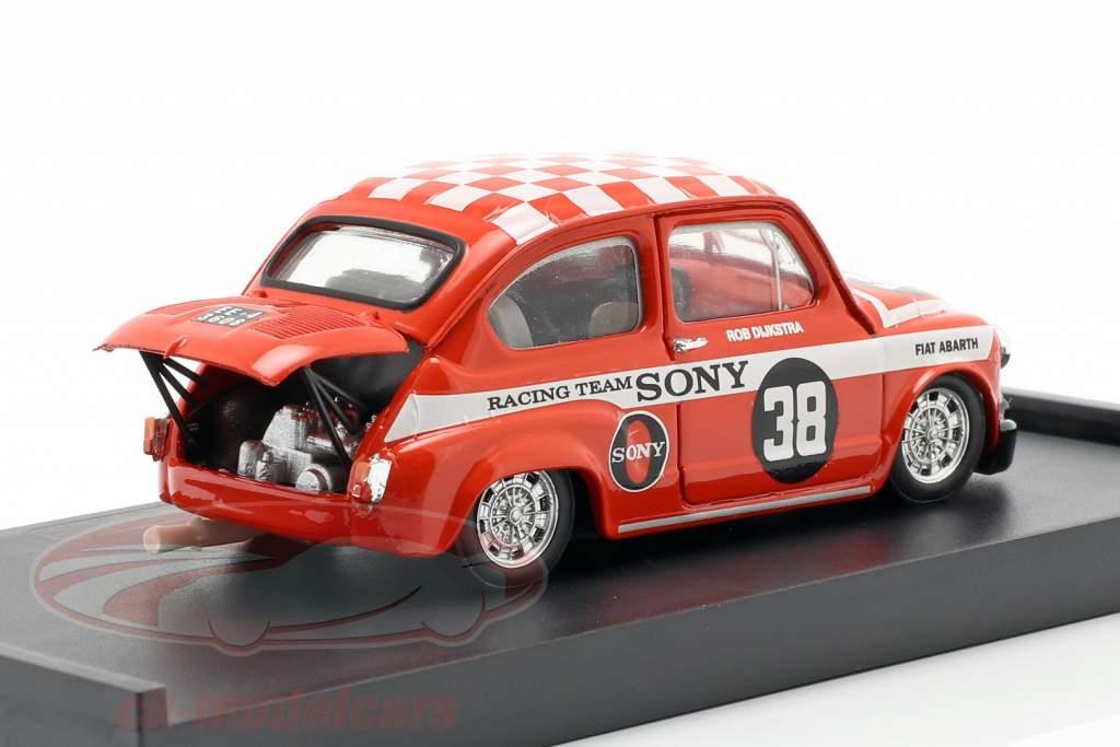 Fiat Abarth 1000 #38 Vinder Zandvoort Trophy 1969 Dijkstra 1:43 Brumm