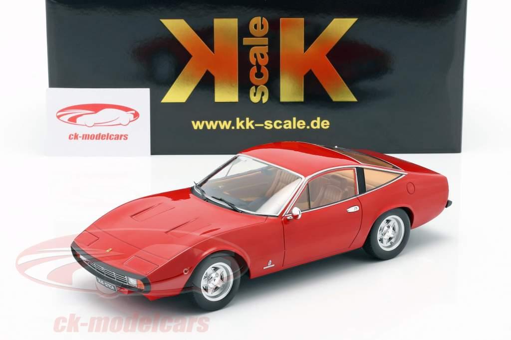Ferrari 365 GTC4 Byggeår 1971 rød 1:18 KK-Scale