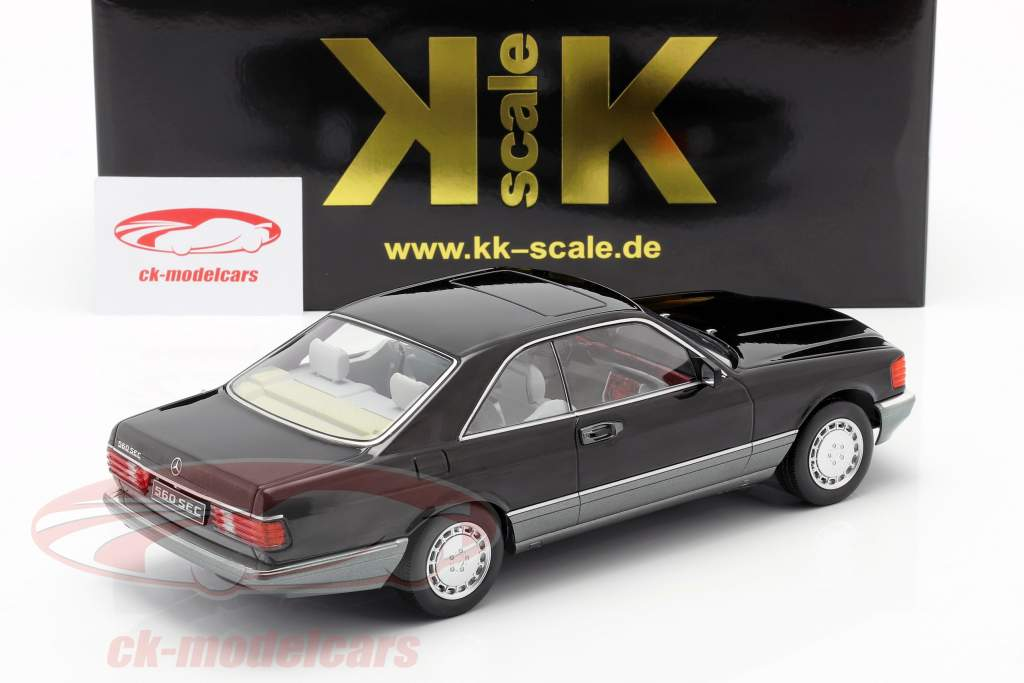 Mercedes-Benz 560 SEC C126 Baujahr 1985 schwarz 1:18 KK-Scale