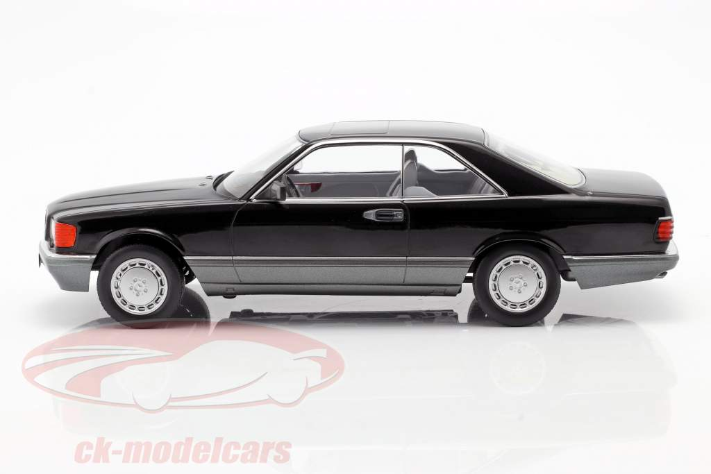 Mercedes-Benz 560 SEC C126 year 1985 black 1:18 KK-Scale