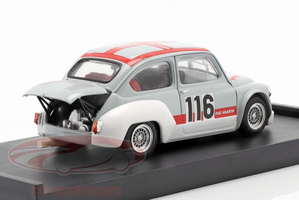 Fiat Abarth 1000 Gr.2/70 #116 Svolte di Popoli 1970 Palumbo 1:43 Brumm