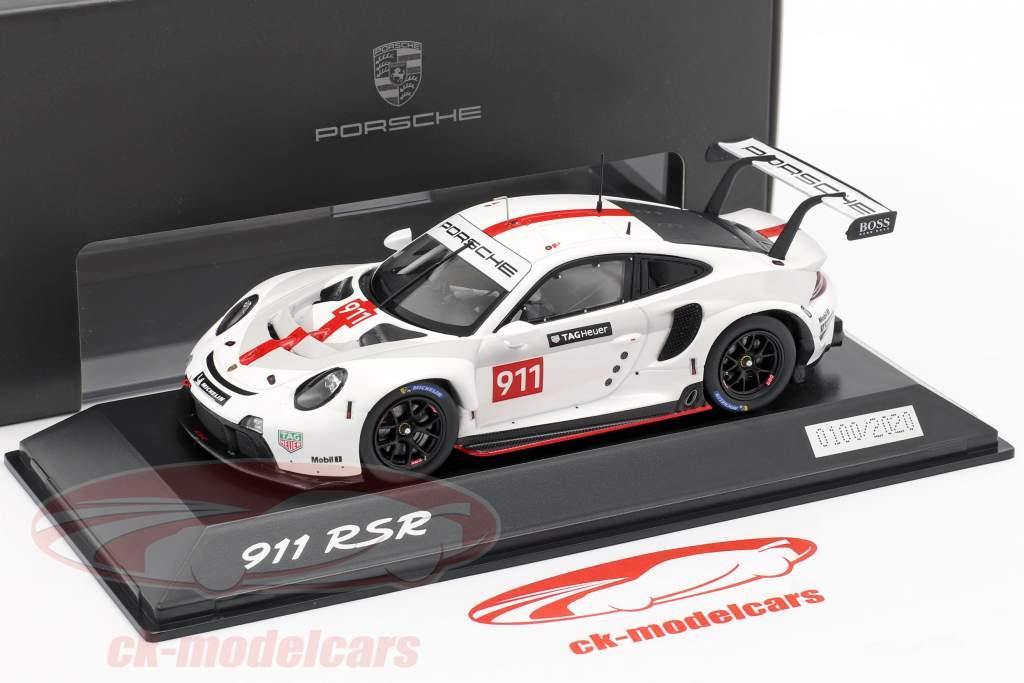 Porsche 911 (992) RSR WEC 2019 Apresentação versão 1:43 Spark