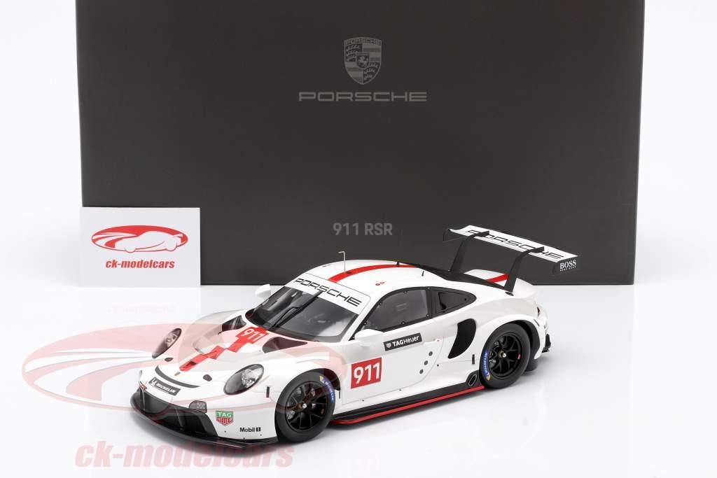 Porsche 911 (992) RSR WEC 2019 Apresentação versão 1:18 Spark