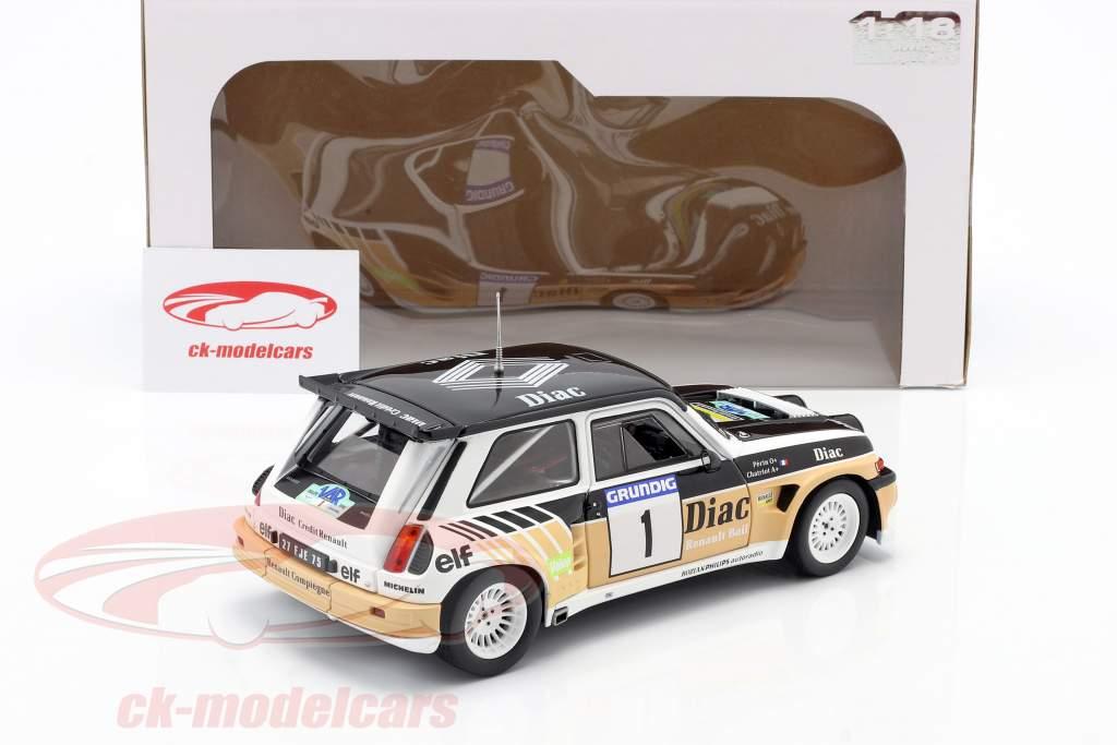 Renault Maxi 5 Turbo #1 Vinder Rallye du Var 1986 Chatriot, Perin 1:18 Solido