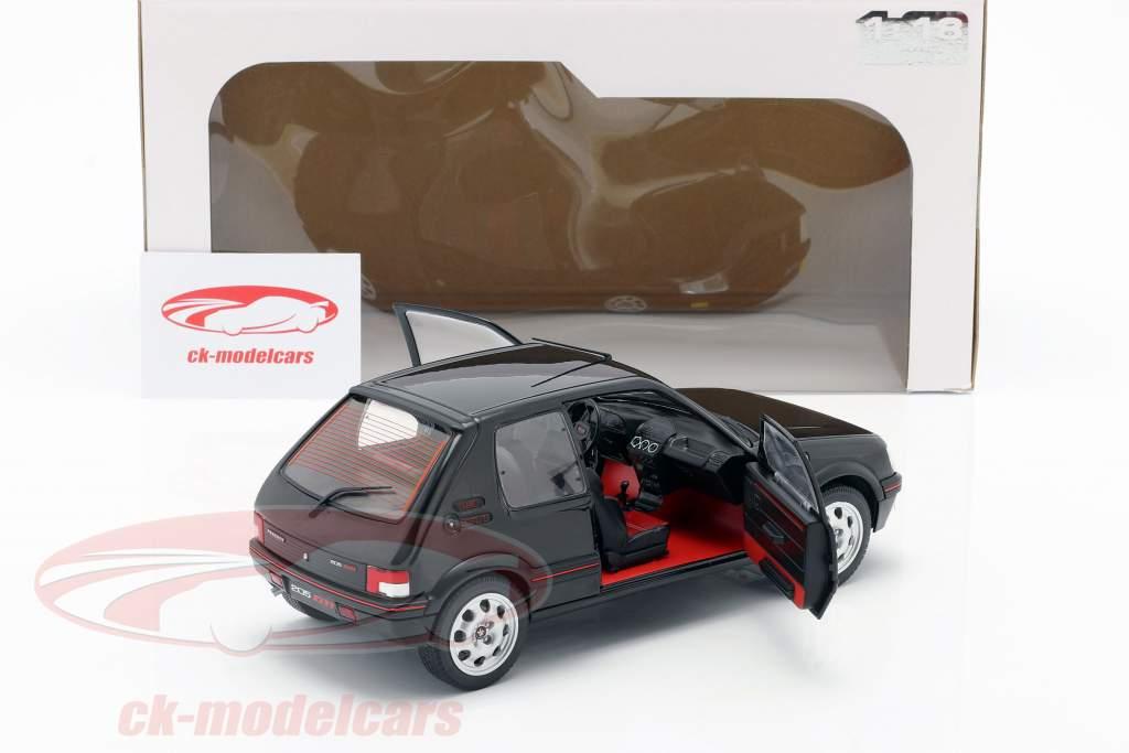 Peugeot 205 GTI MK2 negro / rojo 1:18 Solido