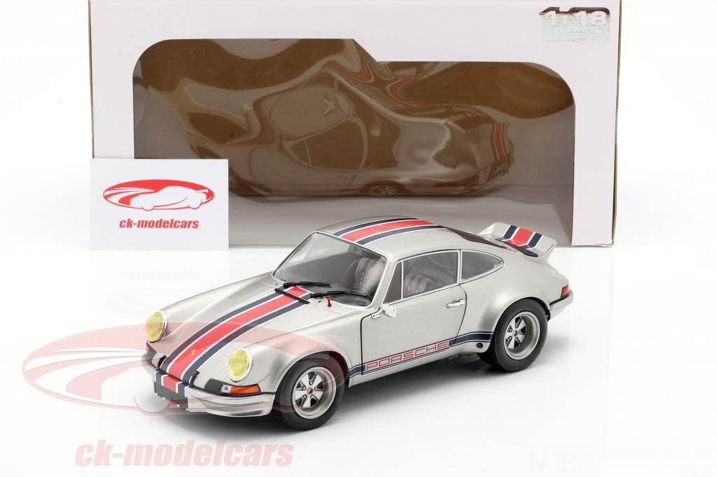 Porsche 911 RSR year 1973 silver gray metallic 1:18 Solido