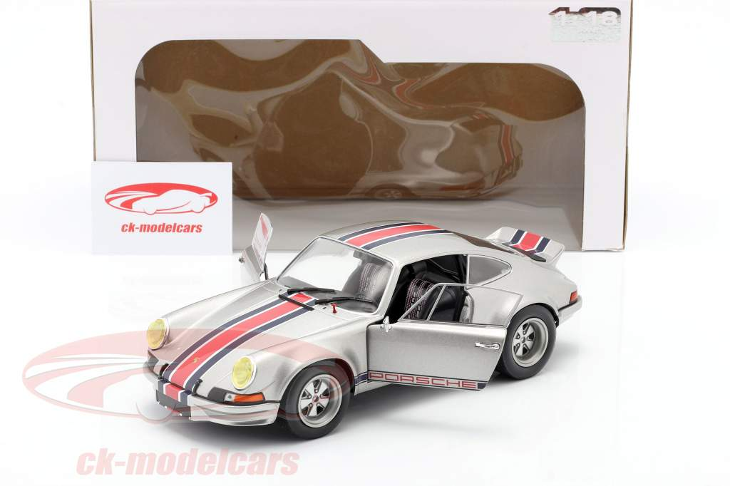 Porsche 911 RSR Ano de construção 1973 cinza prateado metálico 1:18 Solido