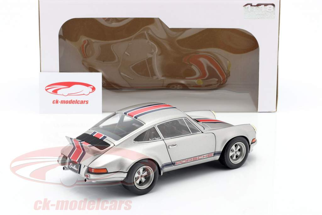 Porsche 911 RSR Anno di costruzione 1973 grigio argento metallico 1:18 Solido