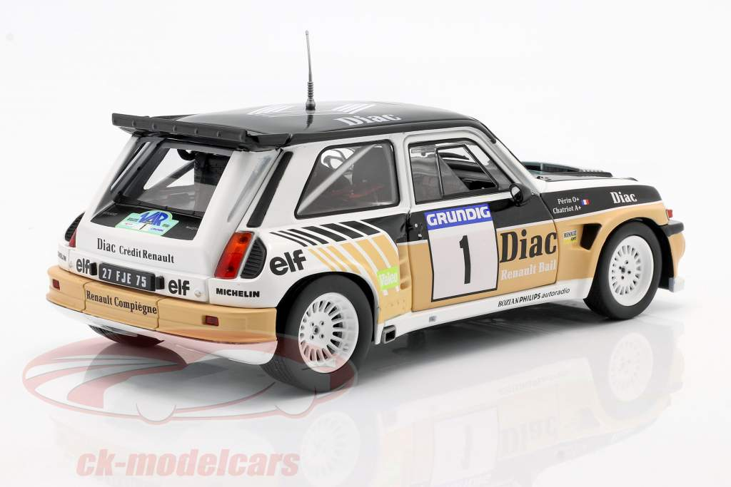 Renault Maxi 5 Turbo #1 Gagnant Rallye du Var 1986 Chatriot, Perin 1:18 Solido