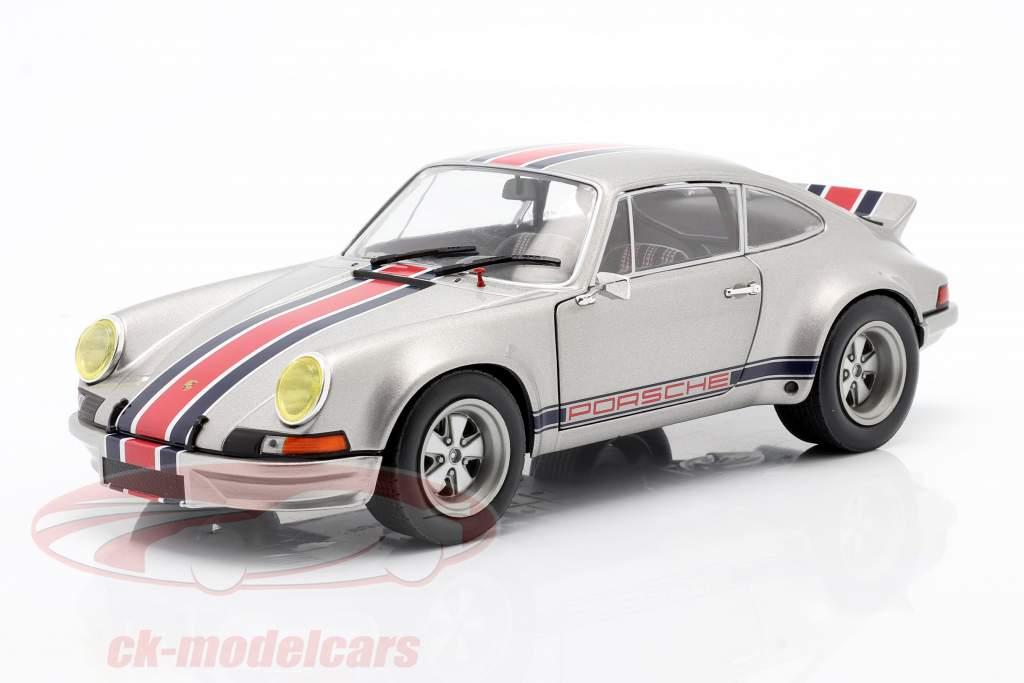 Porsche 911 RSR Année de construction 1973 Gris argent métallique 1:18 Solido