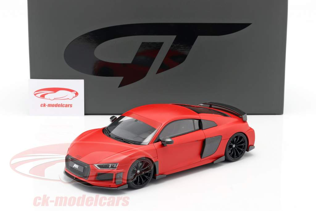 Audi R8 ABT Byggeår 2019 matteret rød 1:18 GT-SPIRIT