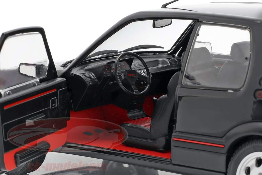 Peugeot 205 GTI MK2 zwart / rood 1:18 Solido