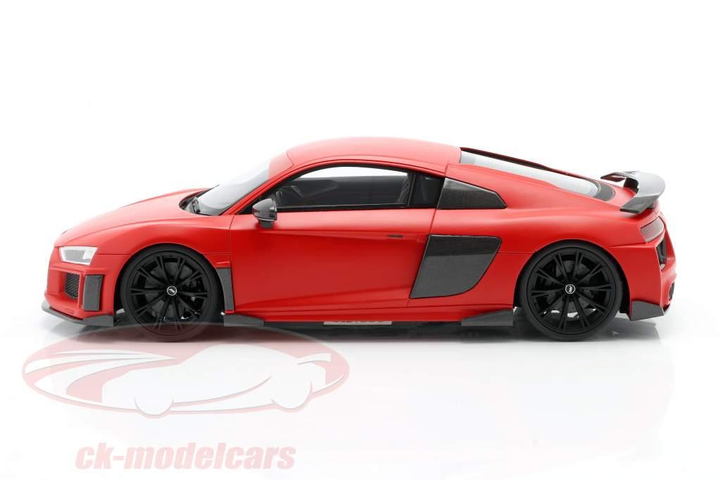 Audi R8 ABT Année de construction 2019 givré rouge 1:18 GT-SPIRIT