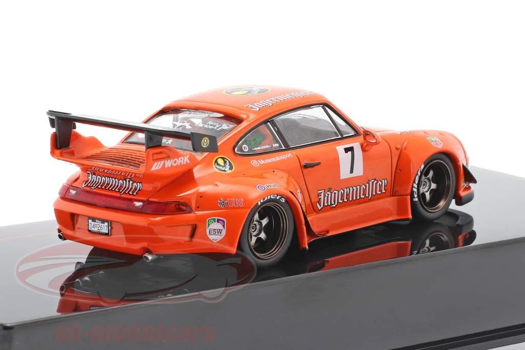 Porsche 911 (993) RWB #7 Rauh-Welt Jägermeister Orange 1:43 Ixo