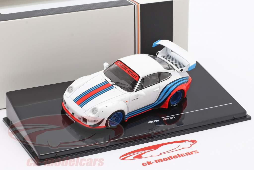 Porsche 911 (993) RWB Rauh-Welt Martini bianca 1:43 Ixo