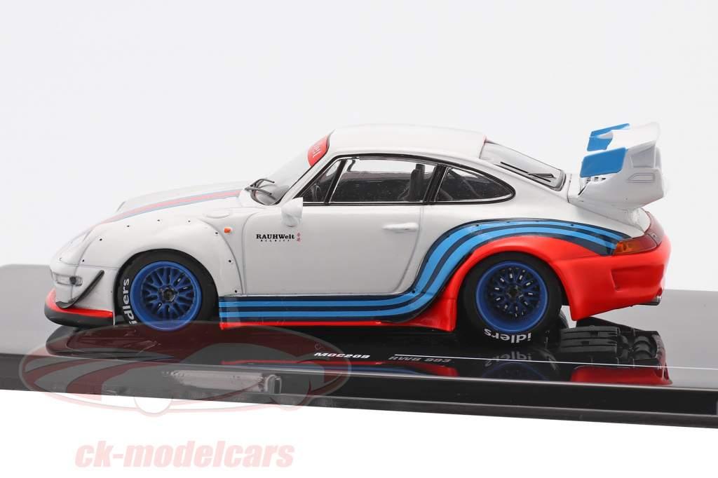 Porsche 911 (993) RWB Rauh-Welt Martini hvid 1:43 Ixo