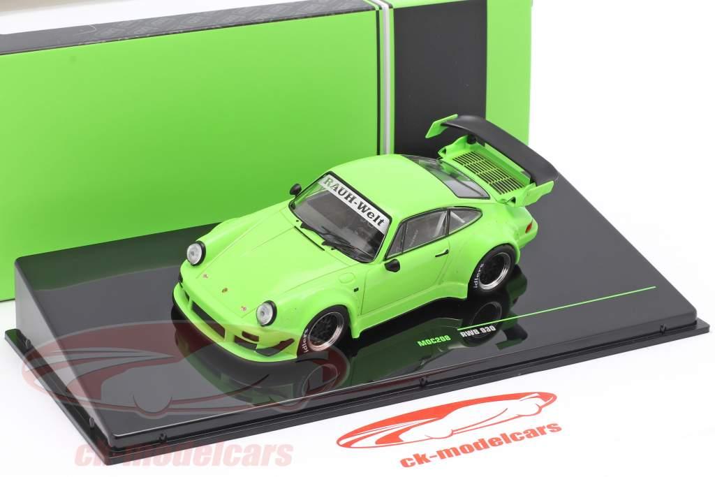 Porsche 911 (930) RWB Rauh-Welt lyse grøn 1:43 Ixo