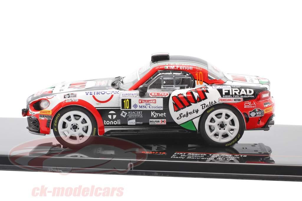 Fiat Abarth 124 RGT #10 Rally San Remo 2019 Brazzoli, Fenoli 1:43 Ixo