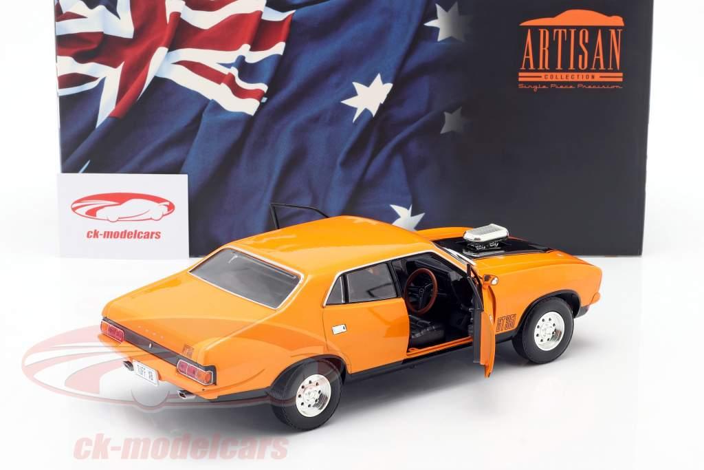 Ford Falcon XB GT 351 4-Door Sedan Année de construction 1974 Orange 1:18 Greenlight
