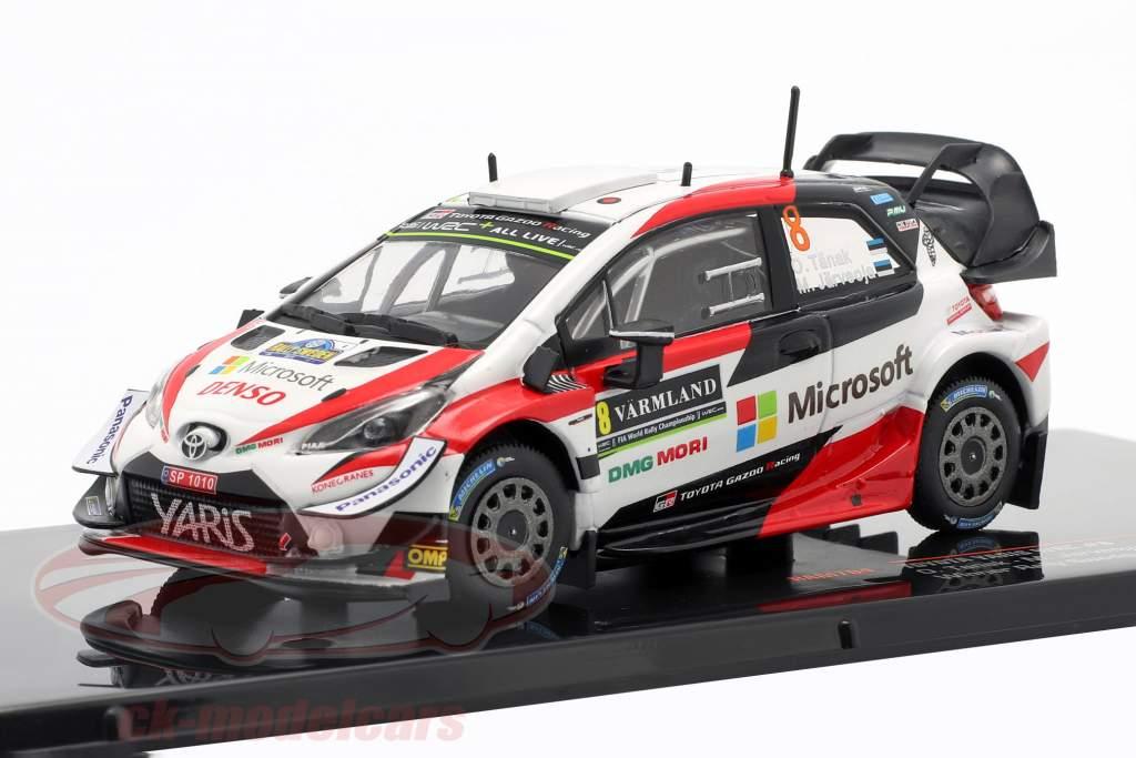 Toyota Yaris WRC #8 Gagnant Rallye Suède 2019 Tanak, Jarveoja 1:43 Ixo