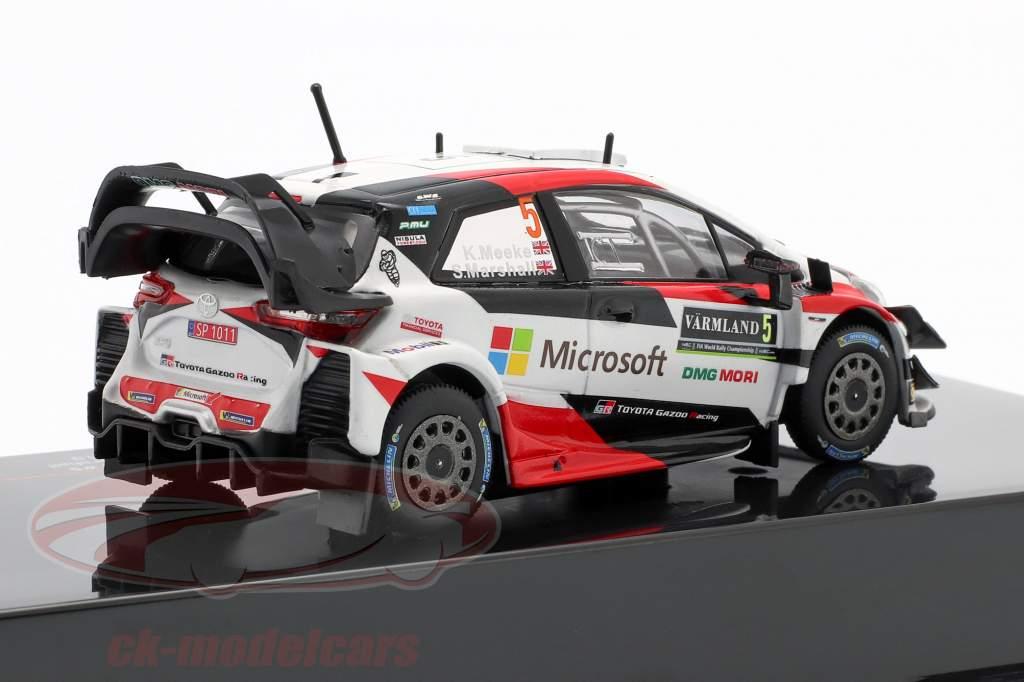 Toyota Yaris WRC #5 Rallye Suécia 2019 Meeke, Marshall 1:43 Ixo