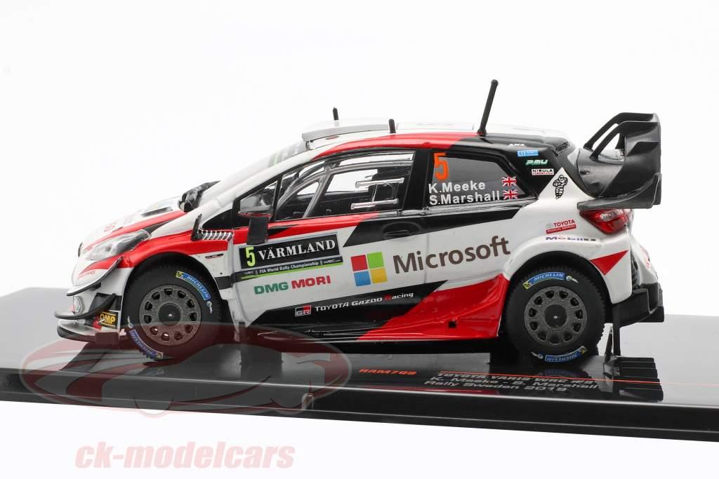 Toyota Yaris WRC #5 Rallye Svezia 2019 Meeke, Marshall 1:43 Ixo