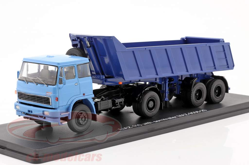Liaz 110 Com MAZ 9506-20 Inclinando trailer azul 1:43 PremiumClassiXXs