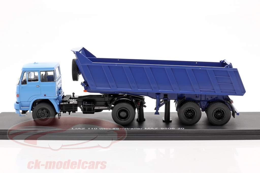 Liaz 110 mit MAZ 9506-20 Kippaufleger blau 1:43 PremiumClassiXXs