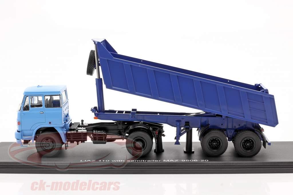 Liaz 110 Med MAZ 9506-20 Tipvogn blå 1:43 PremiumClassiXXs