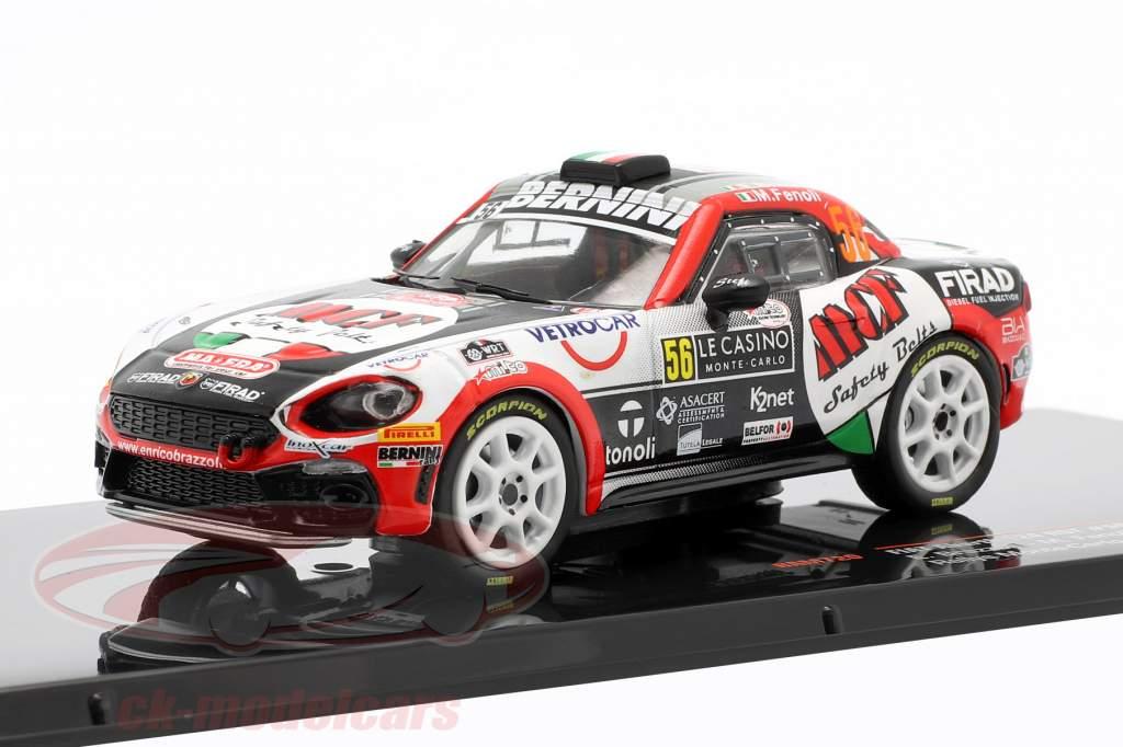 Fiat Abarth 124 RGT #56 Rallye Monte Carlo 2019 Brazzoli, Fenoli 1:43 Ixo