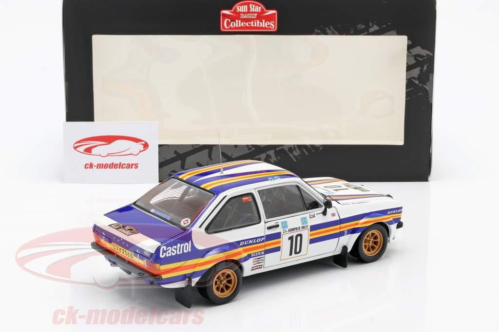 Ford Escort RS1800 #10 Vinder Rallye Akropolis 1980 Vatanen, Richards 1:18 SunStar