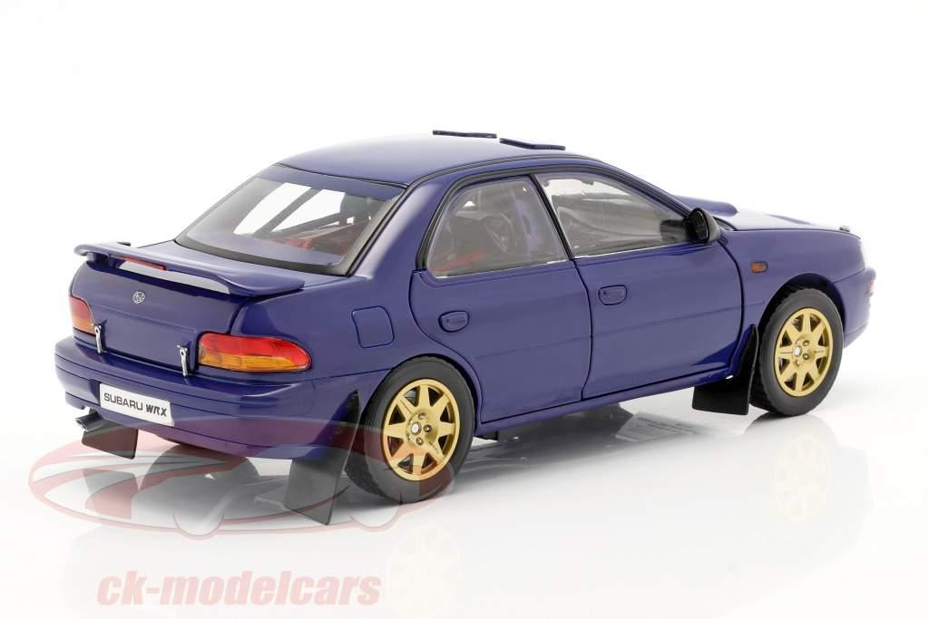 Subaru Impreza jaar 1996 blauw 1:18 Sun Star