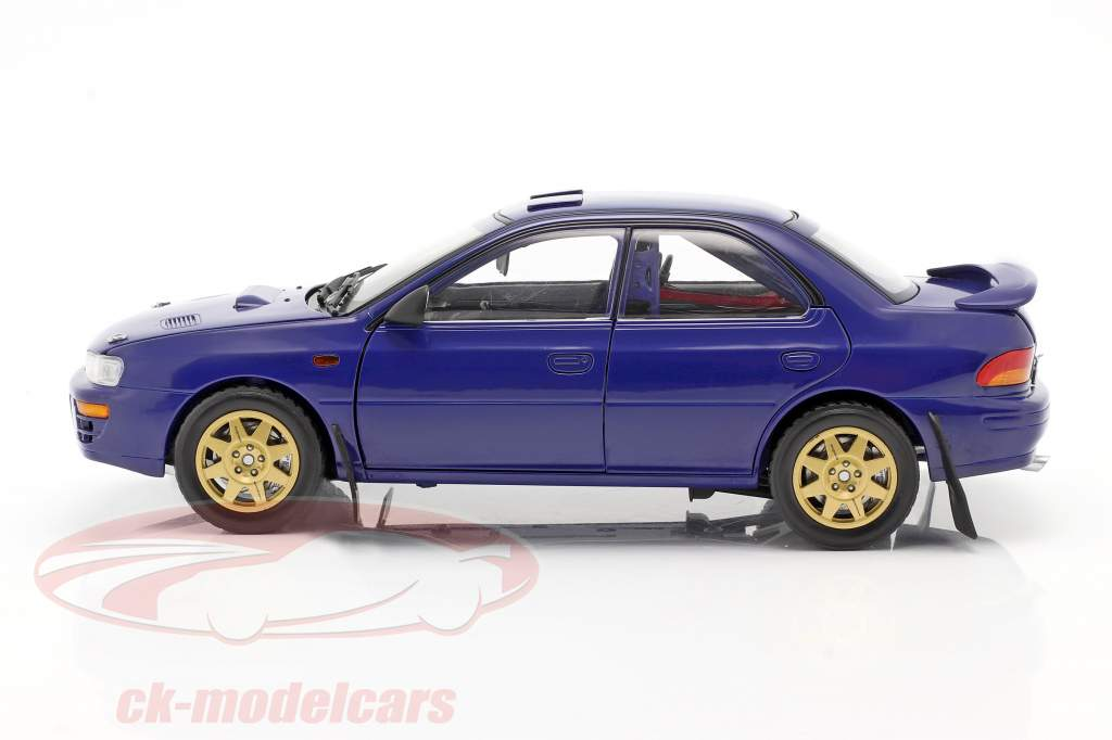 Subaru Impreza year 1996 blue 1:18 Sun Star