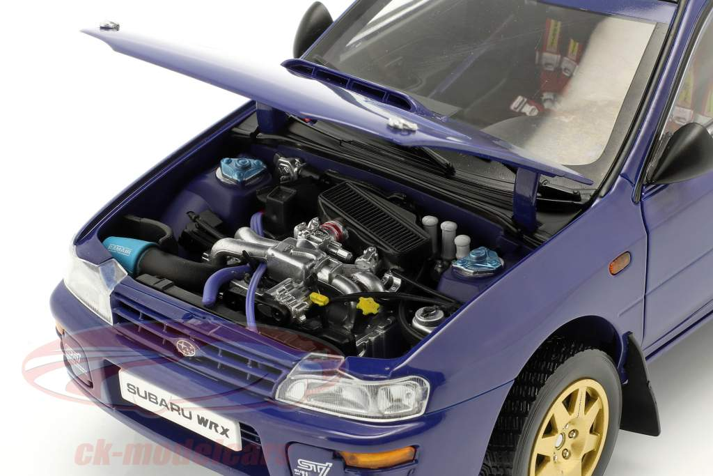 Subaru Impreza anno 1996 blu 1:18 Sun Star