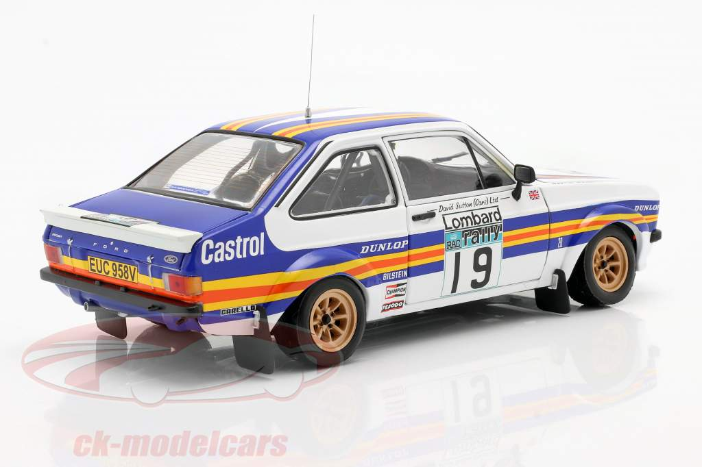 Ford Escort RS1800 #19 RAC Rally 1980 Mäkinen, Homes 1:18 Sun étoile
