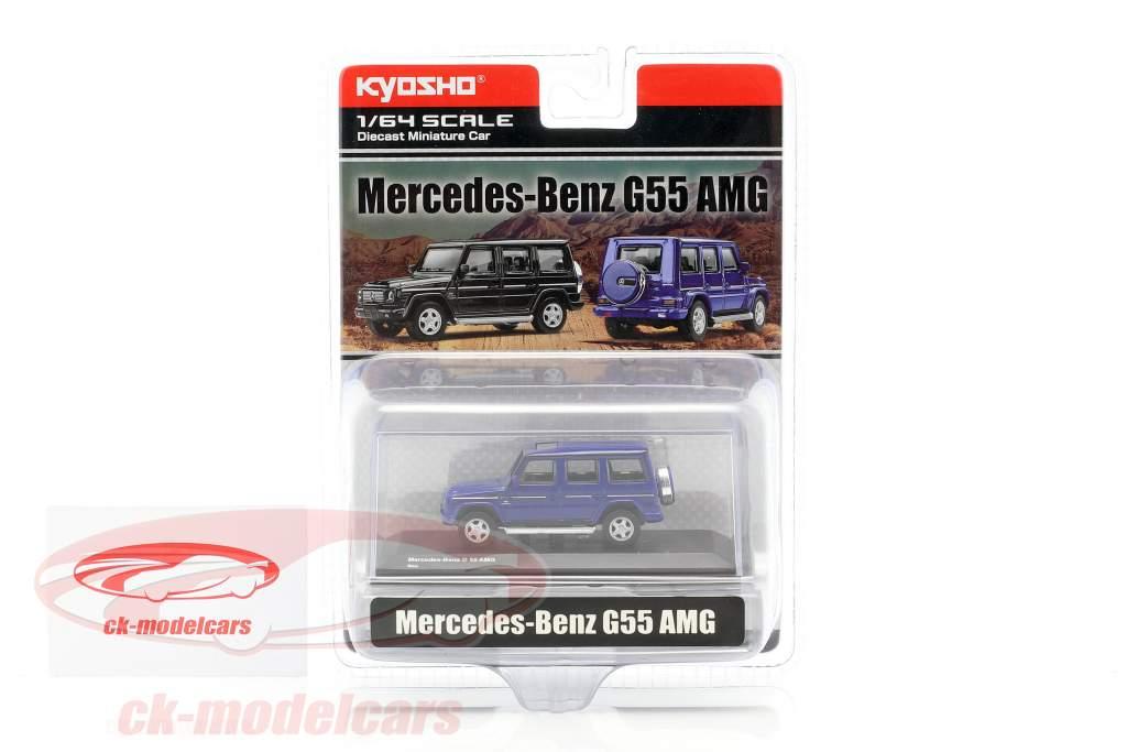 Mercedes-Benz G55 AMG bleu 1:64 Kyosho