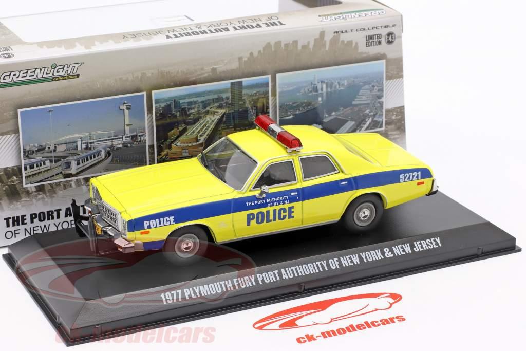 Plymouth Fury Año de construcción 1977 Puerto Autoridad New York and NJ 1:43 Greenlight